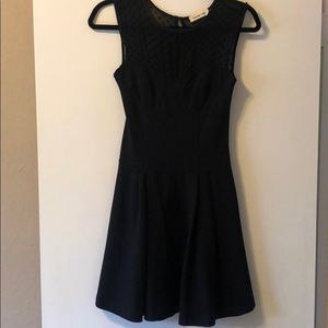 Amour Vert Black fit and flare dress
